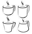 Cup set vector