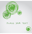 Abstract background with circle elements text vector
