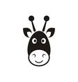 Giraffe head icon vector