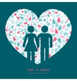Abstract colorful drops couple in love vector