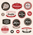 Restaurant badges and labels vector