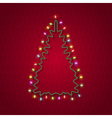 Silhouette of christmas tree vector