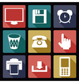 Computer flat icons 1 vector