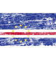 Flag of cape verde with old texture vector