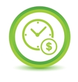 Time is money volumetric icon vector