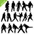 Taekwondo silhouettes vector