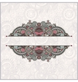 Ornamental floral pattern with place for your vector