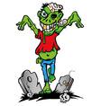 Green zombie vector