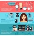 Makeup banner set vector
