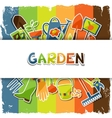 Background with garden sticker design elements and vector