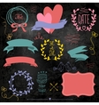 Wedding graphic set on chalkboard vector