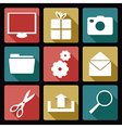 Computer flat icons 2 vector