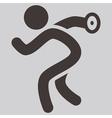Discus throw icon vector