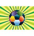 Soccer ball on green background3 vector