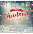 Christmas landscape poster eps 10 vector