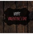 Valentines day card design wooden texture vector