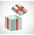 Festive box with red retro bow vector