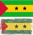 Sao tome and principe grunge flag vector