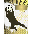 Football grunge poster template with soccer player vector