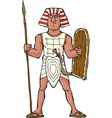 Ancient egyptian warrior vector