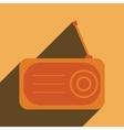 Radio flat icon silhouette vector