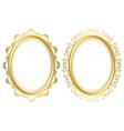Oval decorative frames - set vector