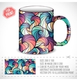 Abstract art design for print on a cup conc vector