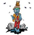 Crazy zombie cartoon vector