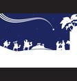 Nativity scene monocrome vector