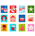 Christmas advent calendar elements 1 vector