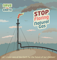 Stop flaring natural gas vector