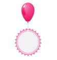 Balloon with abstract wheel tag vector