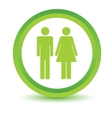 Man and woman volumetric icon vector