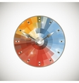 Smiling alarm clock on a light background vector