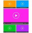 Set of 5 simple abstract icons of video player vector