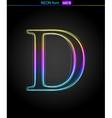 Neon letter vector