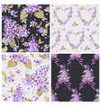 Set of spring flowers backgrounds vector