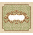 Abstract royal floral vintage frame vector