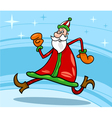 Santa claus christmas cartoon vector