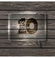 Glass bubble speech on wooden background eps10 vector