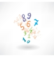 Numbers grunge icon vector