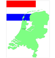 6137 netherland map and flag vector
