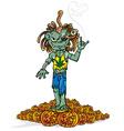 Zombie rock cartoon vector