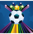 Soccer ball with stars6 vector