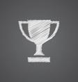 Winner cup sketch logo doodle icon vector