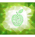 Green triangle apple with background vector