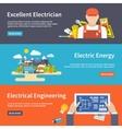 Electricity banner set vector
