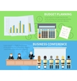 Business conference and budget planning vector