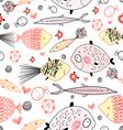 Marine fish pattern vector