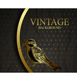 Vintage background with bird vector